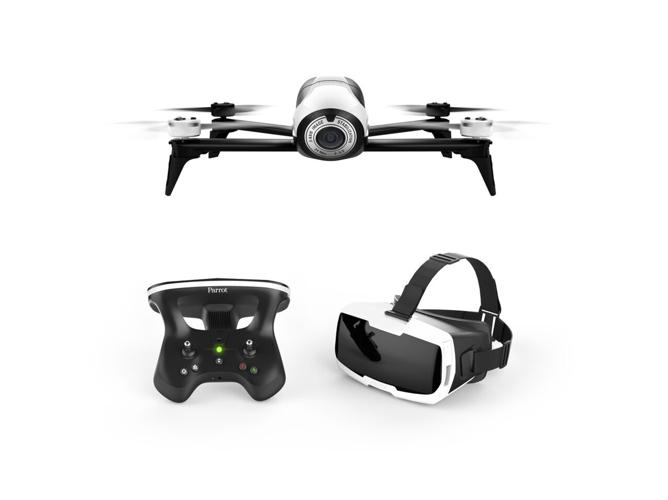 Drone con gafas FPV PARROT Bebop 2 blanco