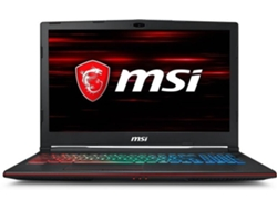 Portátil Gaming 15.6'' MSI GP63 Leopard 8RE675 - 9S7-16P522-675 (i7, RAM: 16 GB, Disco duro: 1 TB HDD + 256 GB SSD)