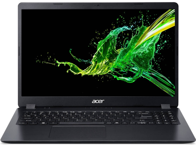 Portátil ACER Aspire 3 A315-54K-34LQ - NX.HEEEB.002 (15.6'' - Intel Core i3-7020U - RAM: 8 GB - 256 GB SSD - Intel HD 620) — Windows 10 Home | HD