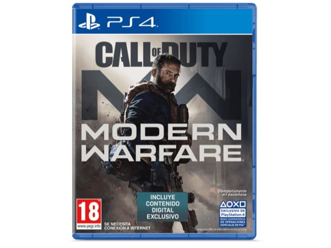 Juego PS4 Call Of Duty: Modern Warfare  (FPS - M18 - Contenido Digital Exclusivo)