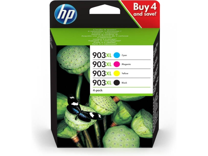 Pack de Cartuchos de tinta HP 903XL - 3HZ51AE — 4 Cartuchos | Multicolor | 825 Páginas