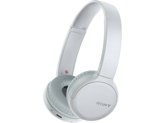 Auriculares Bluetooth SONY WHCH510W (On Ear - Micrófono - Blanco)