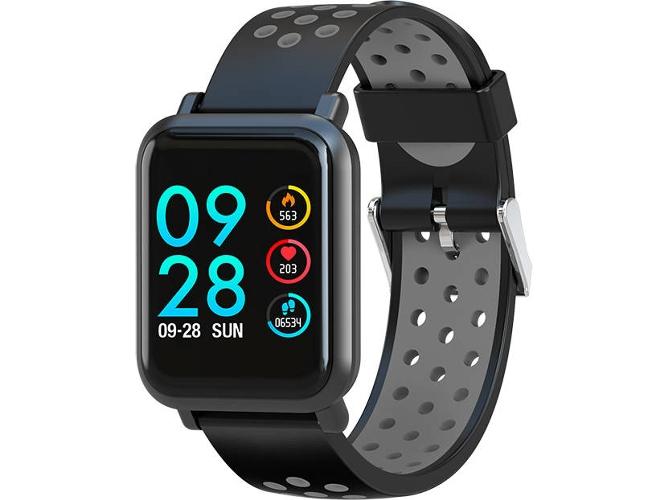 e45dcfaec7f790 Reloj deportivo LEOTEC MultiSport Helse Color (Bluetooth - 15 días de  autonomía - Pantalla táctil - Gris)