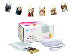 Pack Impresora Fotográfica HP Sprocket Perla + Funda + Tira luces LED