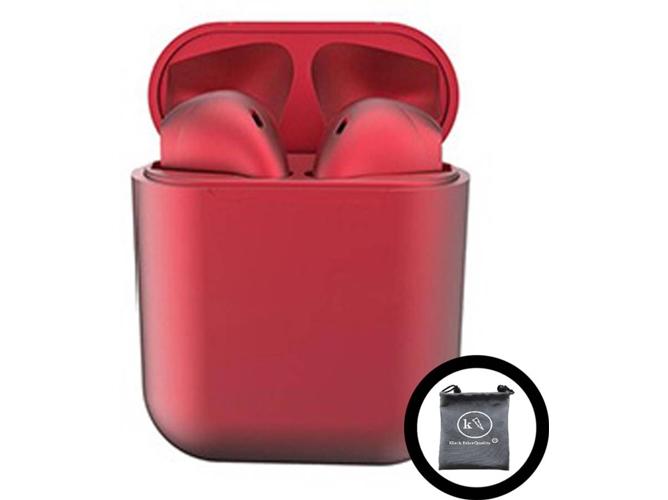 Auriculares Bluetooth True Wireless KLACK InPods 12 (In Ear - Rojo Metalizado)