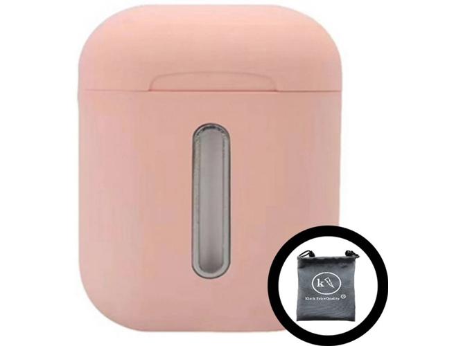 Auriculares Bluetooth True Wireless KLACK Q8L (In Ear - Rosa)