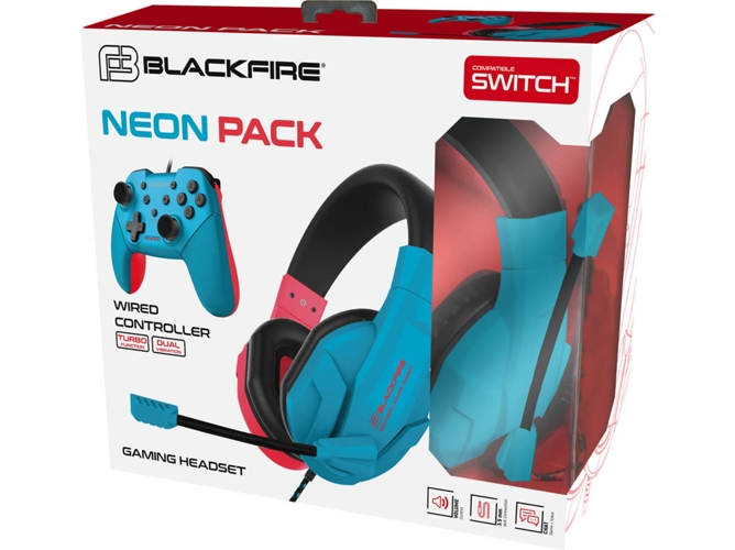 Mando + Auriculares Gaming BLACKFIRE Neon Pack