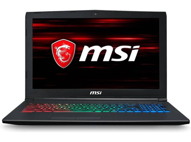 Portátil Gaming MSI GF62 8RE-048ES (Intel Core i7-8750H - NVIDIA GeForce GTX 1060 - RAM: 16 GB - 1 TB HDD + 256 GB SSD - 15.6'')