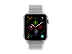 APPLE Watch S4 GPS (LTE) 44 mm Aluminio en Plata y Correa Loop Deportiva en color Nácar