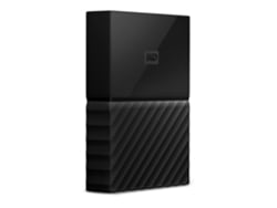 Disco HDD Externo WESTERN DIGITAL My Passport  1 TB (Negro - 1 TB - USB 3.0) — 2.5'' | 1 TB | USB 3.0