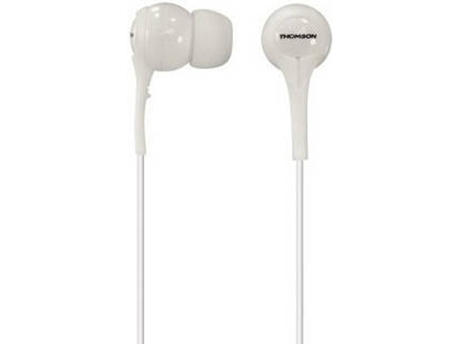 Auriculares con cable THOMSON EAR3011 (In Ear - Micrófono - Blanco)