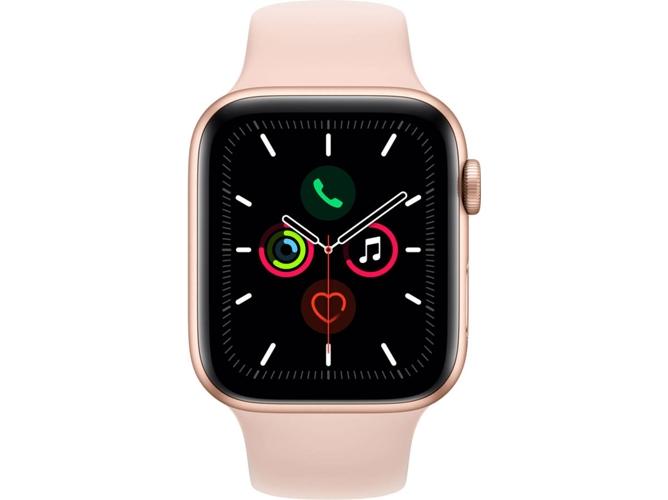 APPLE Watch Series 5 GPS+Cellular (Sport band - 44 mm - Aluminio oro, Rosa)  | Worten.es