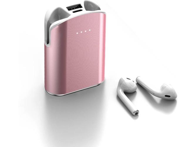 Auriculares Bluetooth True Wireless LAMZIEN G01 (In-Ear - Micrófono - 5000mAh - Rosa)