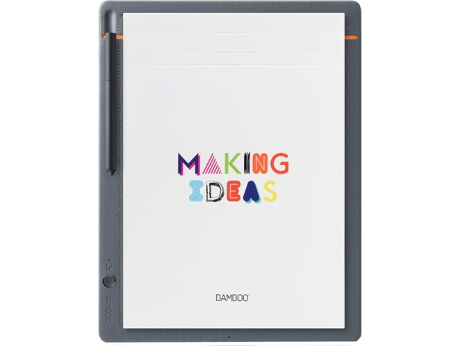 Tableta Gráfica WACOM Bamboo Slate (Bluetooth - Windows - 210 x 297 mm ) — Compatibilidad: Apple y Android
