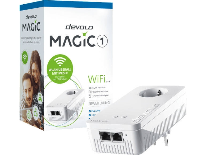 Powerline Devolo Magic 1 Wifi 2-1-1 — 1200 Mbit/s | Blanco