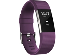 Pulsera FITBIT Charge 2 Plata y Rojo S