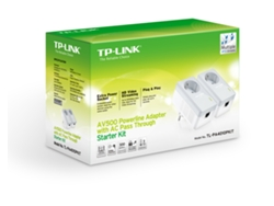 Powerline TP-LINK TL-PA4010PKit (AV600 - Passthrough) — 2 uni. | 500 Mbps