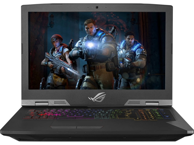 Portátil Gaming ASUS Rog G703GI-E5070T (Intel Core i7-8750H - NVIDIA GeForce GTX 1080 - RAM: 32 GB - 1 TB HDD + 512 GB SSD - 15.6'')