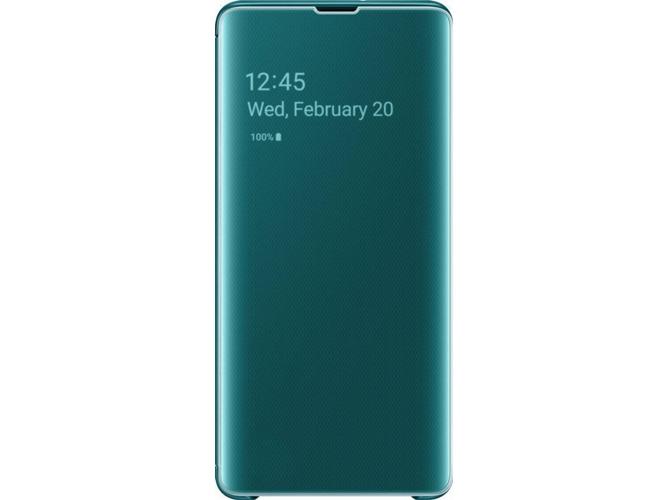 679e895727e Funda SAMSUNG Galaxy S10+ Clear View Verde