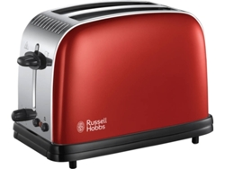 Tostadora RUSSELL HOBBS Colours Plus Red 23330-56 (1670 W) (1670 W) — Función descongelar