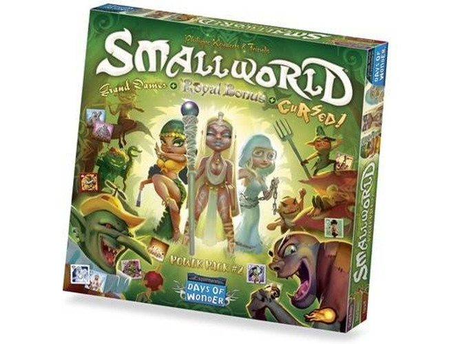Juego de Mesa DAYS OF WONDER Small World Race Collection: Cursed, Grand Dames & Royal (Inglés - Edad Mínima: 8)