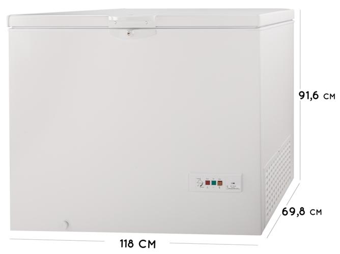 Clase A+ Blanco Congelador Horizontal Capacidad 311 litros Indesit OS 1A 300 H2