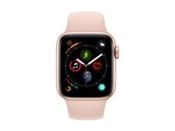 APPLE Watch S4 GPS 40 mm Aluminio en Oro y Correa Deportiva Rosa Arena