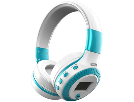 Auscultadores Bluetooth ZEALOT B19 (On Ear - Micrófono - Blanco)