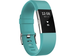 Pulsera FITBIT Charge 2 Plata y Turquesa