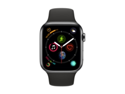 APPLE Watch S4 GPS (LTE) 44 mm Acero Inoxidable en Negro Espacial y Correa Deportiva Negra