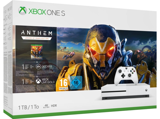 Consola Xbox One S + Anthem: Legion of dawn Edition (1 TB)