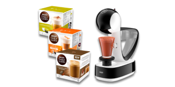 Llévate una cafetera DOLCE GUSTO Infinissima por 38€