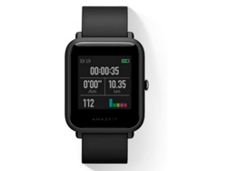 Smartwatch AMAZFIT Bip Negro — Bluetooth 4.0 y Wi-Fi | 280 mAh | Android e iOS
