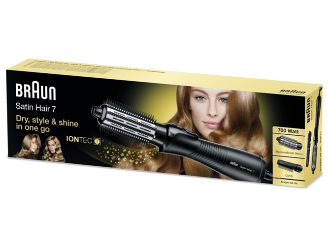 Moldeador BRAUN Iónico Satin Hair AS 720 — Temperatura: 120-180 ºC