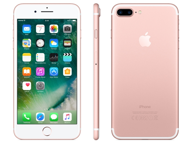 iphone 7 plus apple 256 gb oro rosa worten. Black Bedroom Furniture Sets. Home Design Ideas
