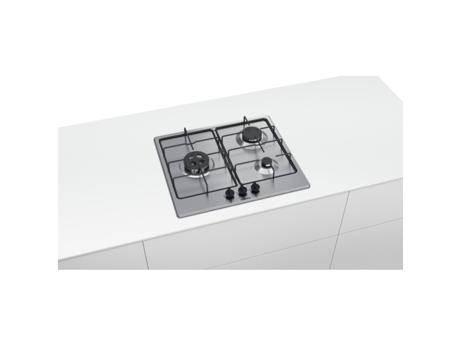 Placa de Gas BOSCH PGC6B5B80 (Gas Natural - 58.2 cm - Inox) — Gas butano-propano o natural | Ancho: 58.2 cm