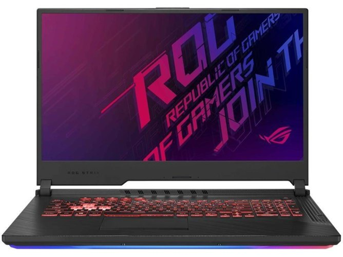 Portátil Gaming ASUS G731GT-AU011T (17.3'', Intel Core i7-9750H, RAM: 16 GB, 512 GB SSD, NVIDIA GeForce GTX 1650) — Windows 10 Home |