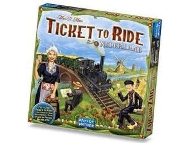 Juego de Mesa DAYS OF WONDER Ticket to Ride - Nederland (Inglés - Edad Mínima: 8)