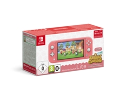 Consola Nintendo Switch Lite + Animal Crossing (32 GB - Coral)