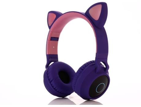 Auscultadores Bluetooth OHPA OHPA BT-028C (On Ear - Micrófono - Morado)