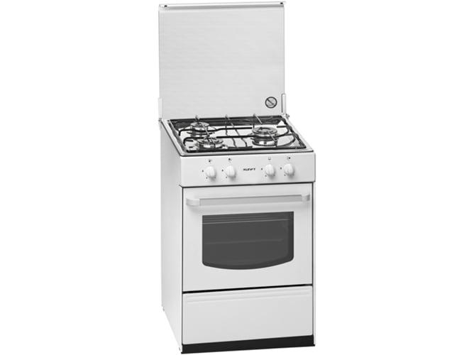 Cocina de gas 3 quemadores kunft s 5055 worten for Cocina de gas carrefour