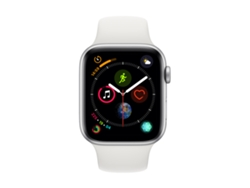 APPLE Watch S4 GPS (LTE) 44 mm Aluminio en Plata y Correa Deportiva Blanca