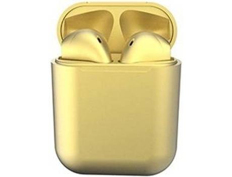 Auriculares Bluetooth True Wireless KLACK InPods 12 (In Ear - Amarillo Metalizado)