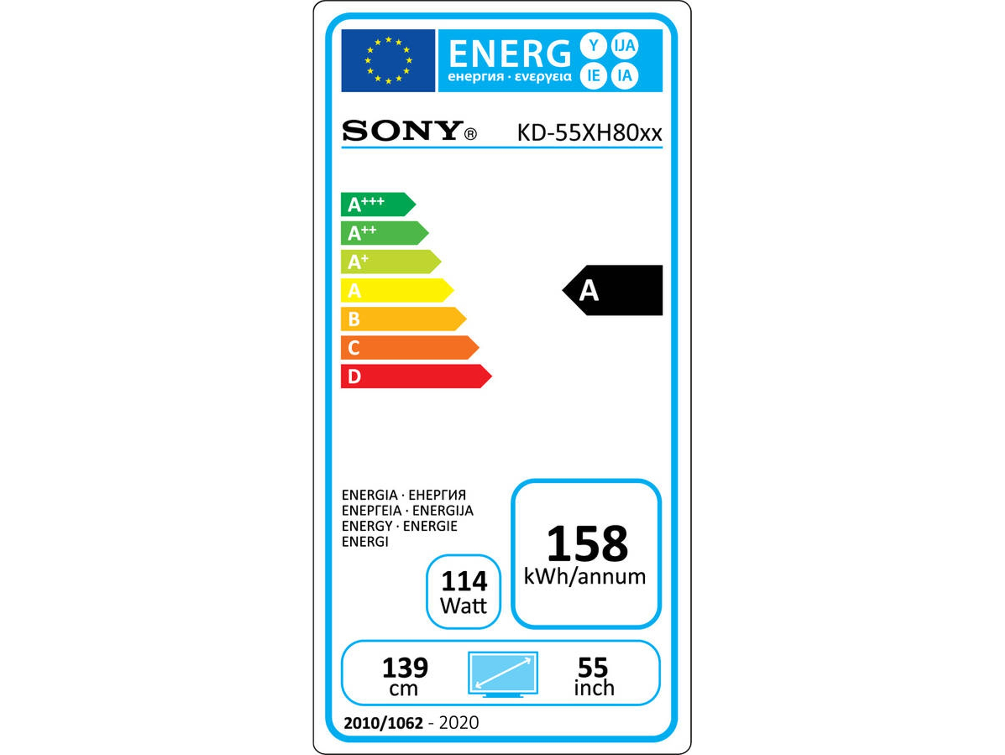 TV SONY KD-55XH8096 (LED - 55'' - 140 cm - 4K Ultra HD - Smart TV)