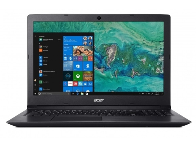 Portátil ACER A315-53-514P (15.6'', Intel Core i5-8250U, RAM: 4 GB, 1 TB HDD, Intel UHD 620) — Windows 10 Home | HD