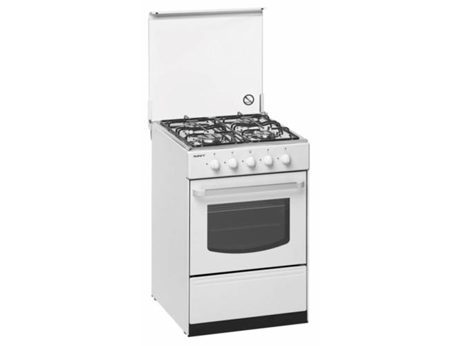 Cocina de gas 4 quemadores kunft s 5050 br worten for Outlet cocinas a gas