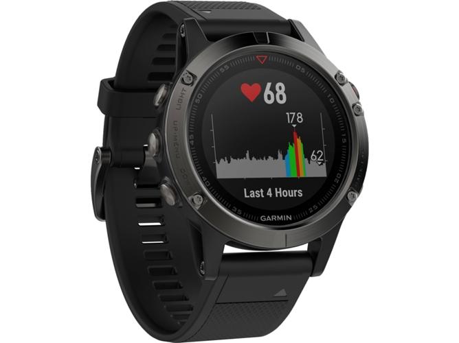 a830c79c359d Reloj deportivo GARMIN FÉNIX 5 (Bluetooth - 13 h de autonomía - Negro)