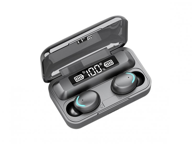 Auriculares Bluetooth True Wireless BAQIANCHUN F9-5C V5.0 (In Ear - Micrófono)