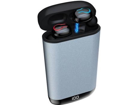 Auriculares Bluetooth KELODO HBQ Q66 (In Ear - Micrófono - Gris)