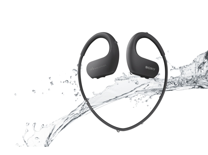Lector MP3 Impermeable SONY NW-WS413B negro — 4 GB | USB